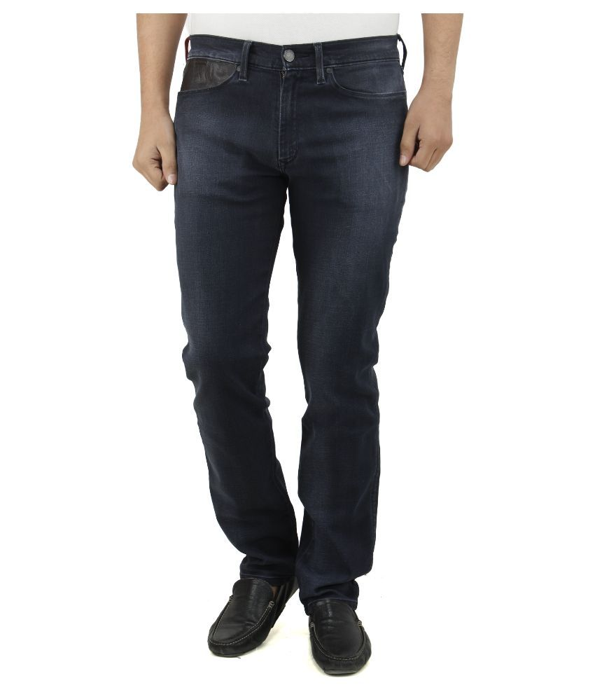 Levi's Redloop Black Slim Fit Faded Jeans