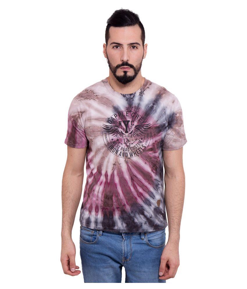 Dapple Grey Multi Round T Shirt