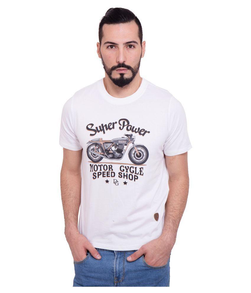 Dapple Grey White Round T Shirt