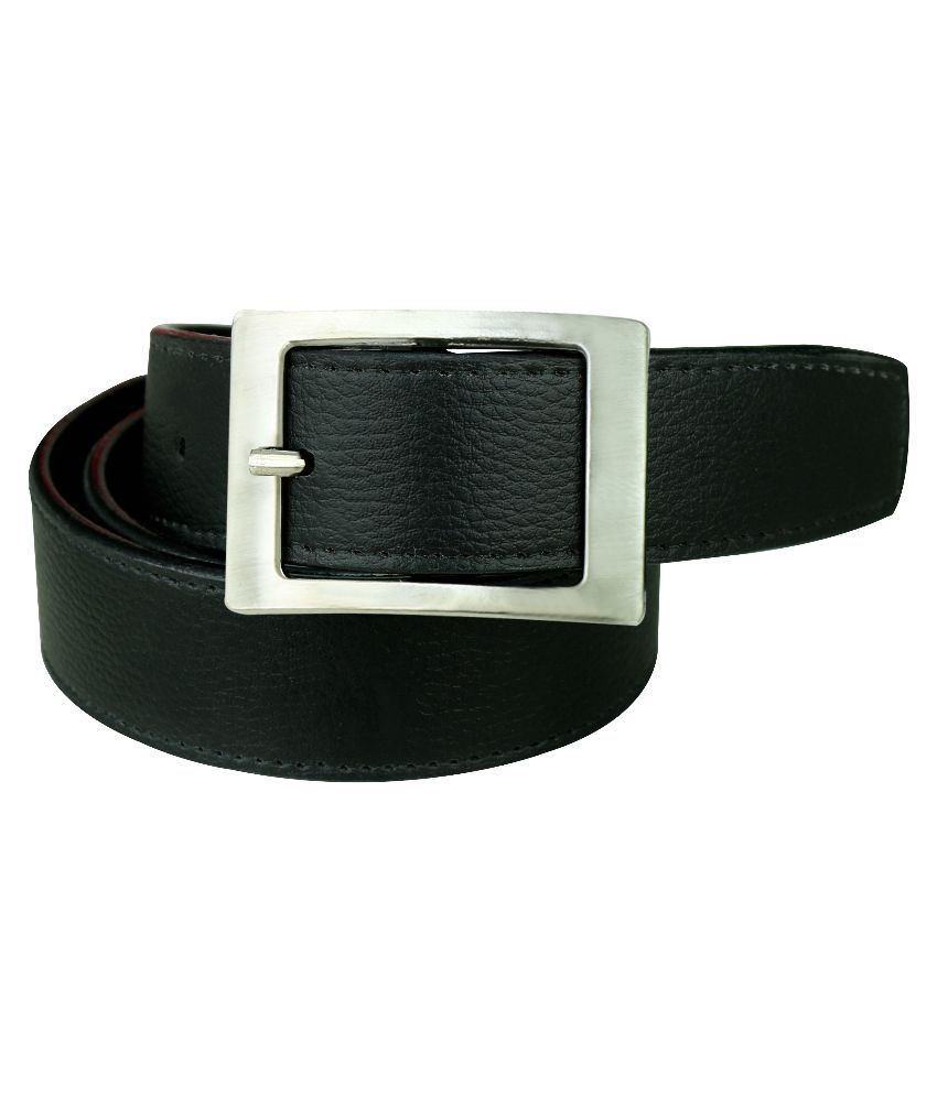 Klazo Black Leather Casual Belts