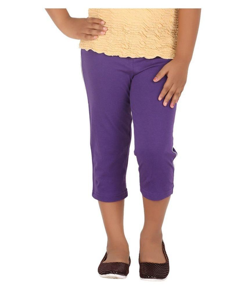 MINNOW GIRL'S SPORTIVE CAPRIS-GRAPE