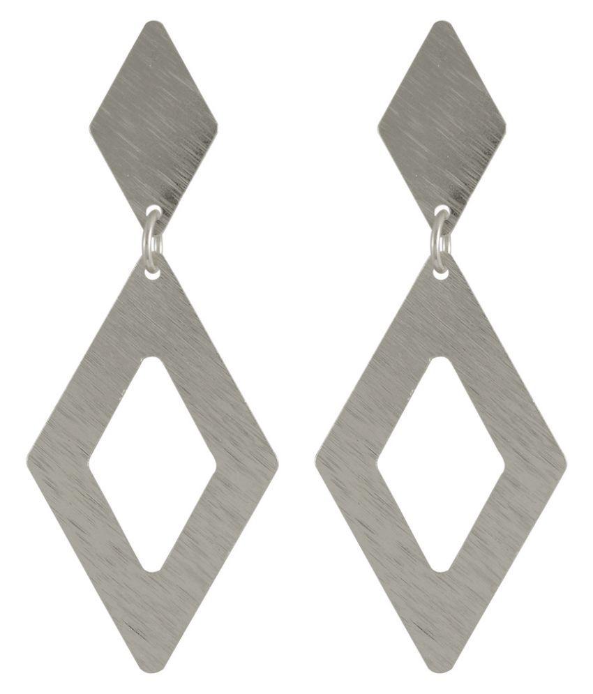 Sarah Alloy Studded Silver Coloured Earrings