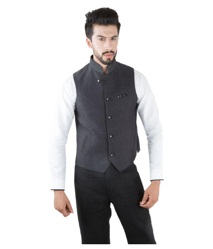 Jahanpanah Grey Party Waistcoats