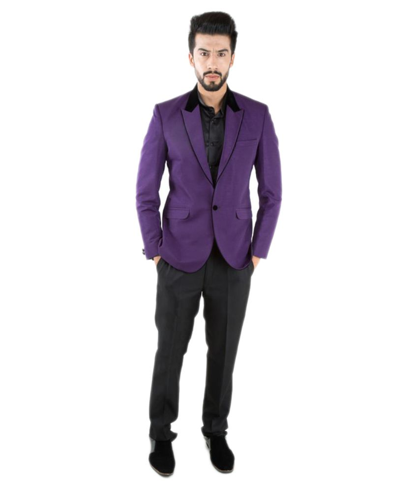 Jahanpanah Purple Party Blazers
