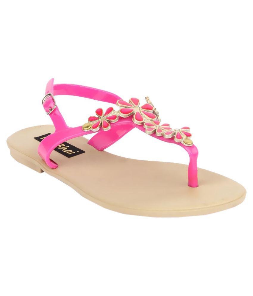 Do Bhai Pink Flats