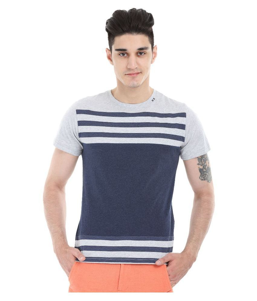 Zobello Navy Round T Shirt