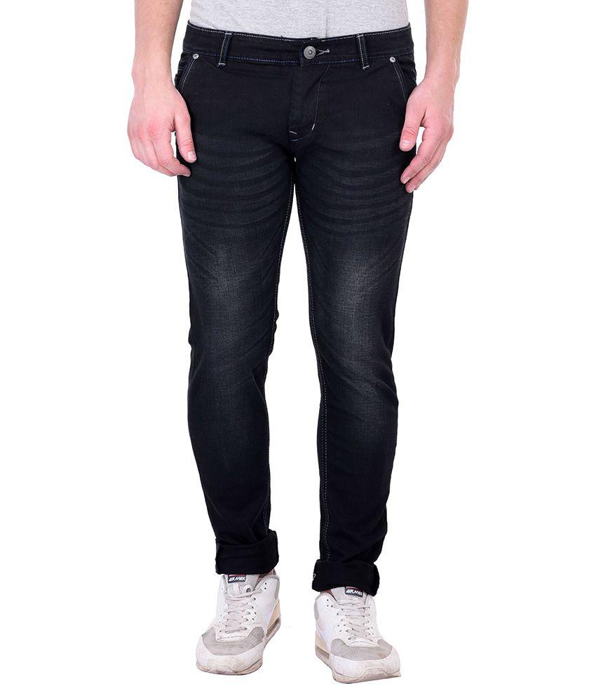 Blue Boat Black Slim Fit Washed Jeans