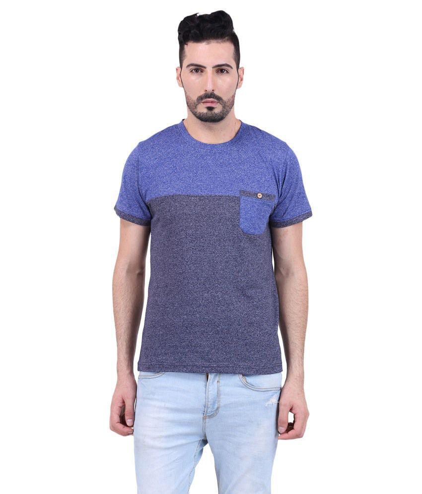 Mod Pluss Blue Round T Shirt