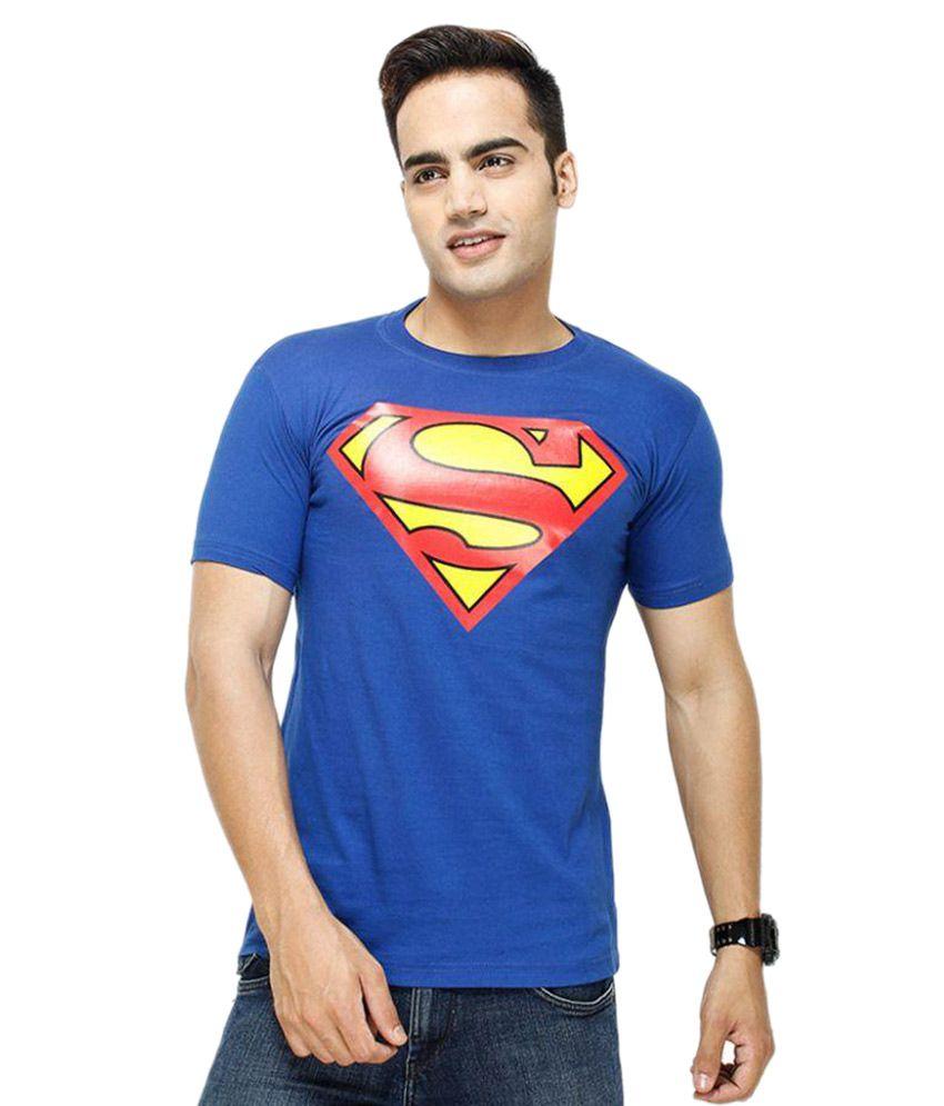 Trendmakerz Blue Round T Shirt