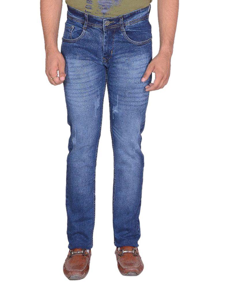 LNK Blue Slim Fit Faded Jeans