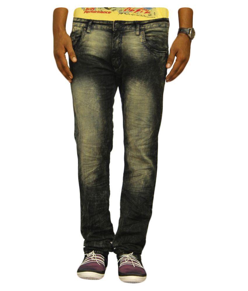 Jugend Black Slim Fit Washed Jeans