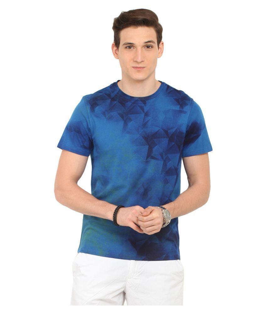 Leo Sansini Blue Round T Shirt