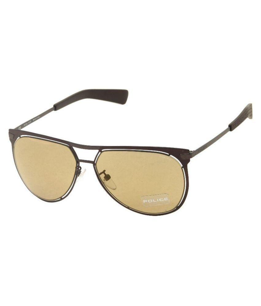 Police Golden Aviator Sunglasses ( 157-R07G )