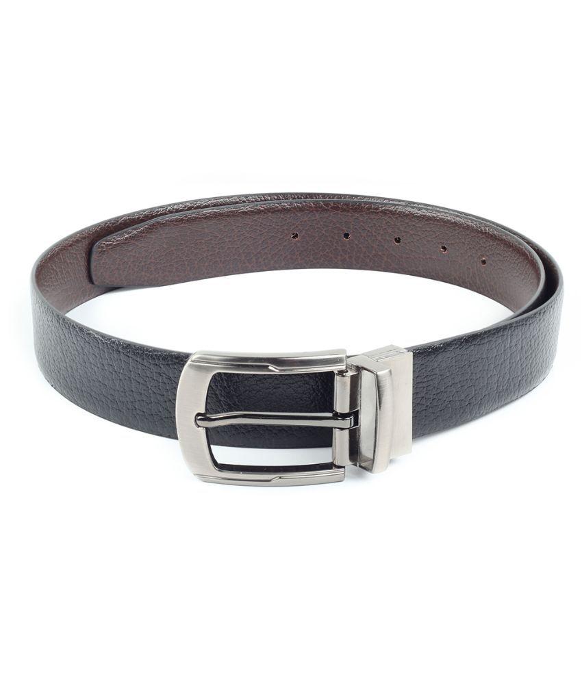 Chisel Black Leather Reversible Belt