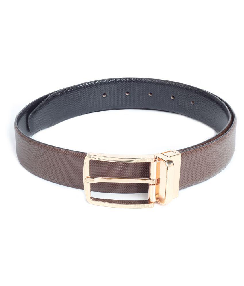 Chisel Brown Leather Reversible Belt