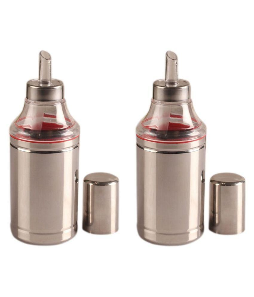 Dynore Steel Oil Container/Dispenser- 1000 ml, Set of 2