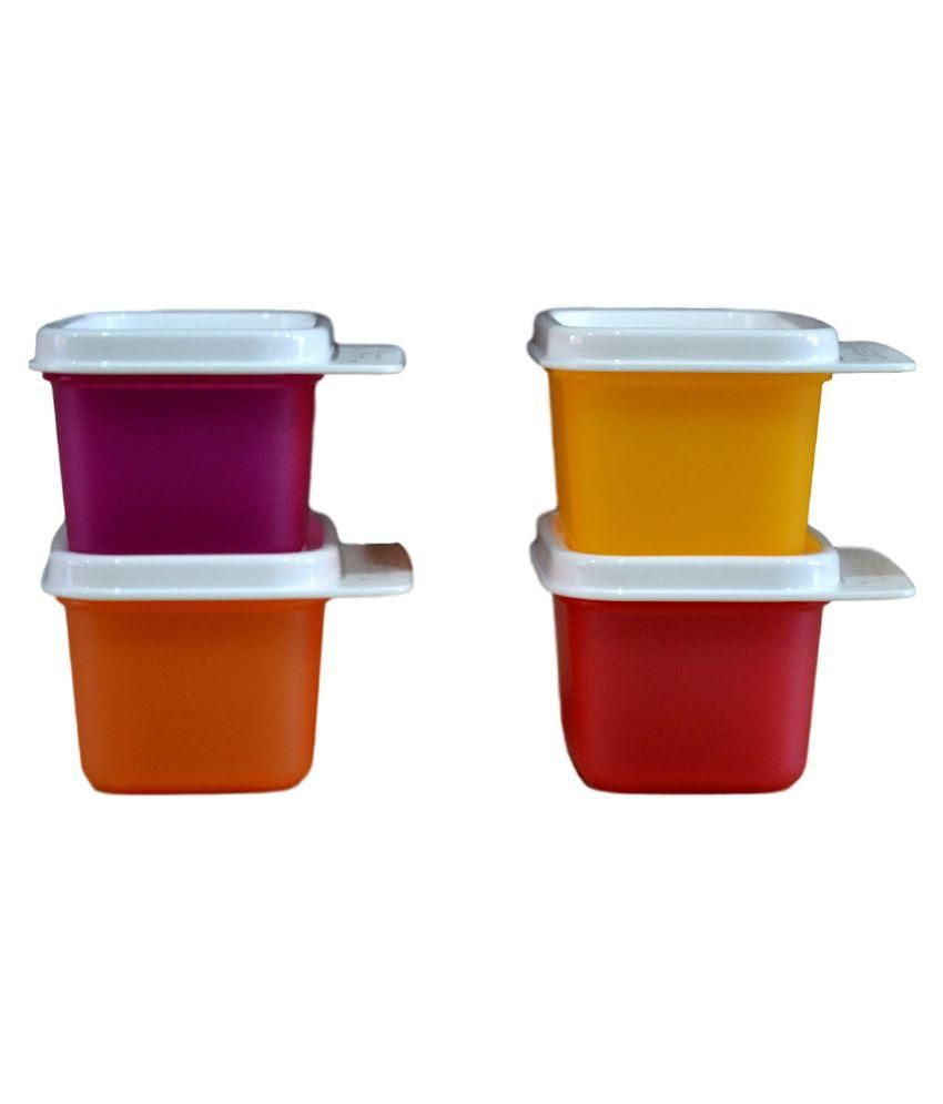 Tupperware Keep Tab Extra Mini PET Food Container Set of 4: Buy ...