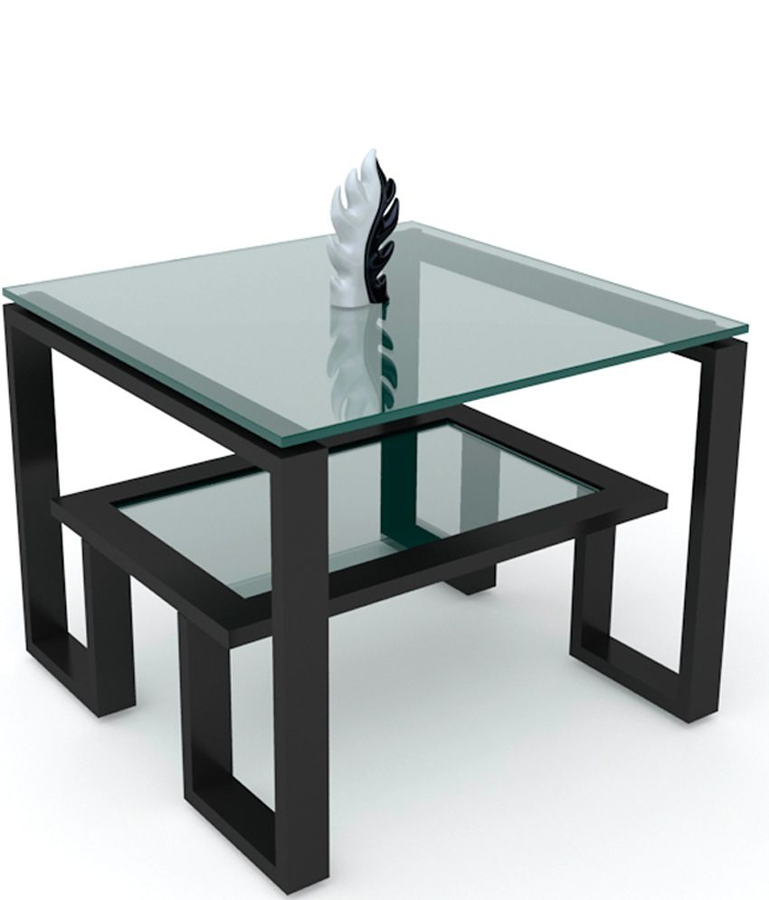 Unicos Crystal End Table In Black
