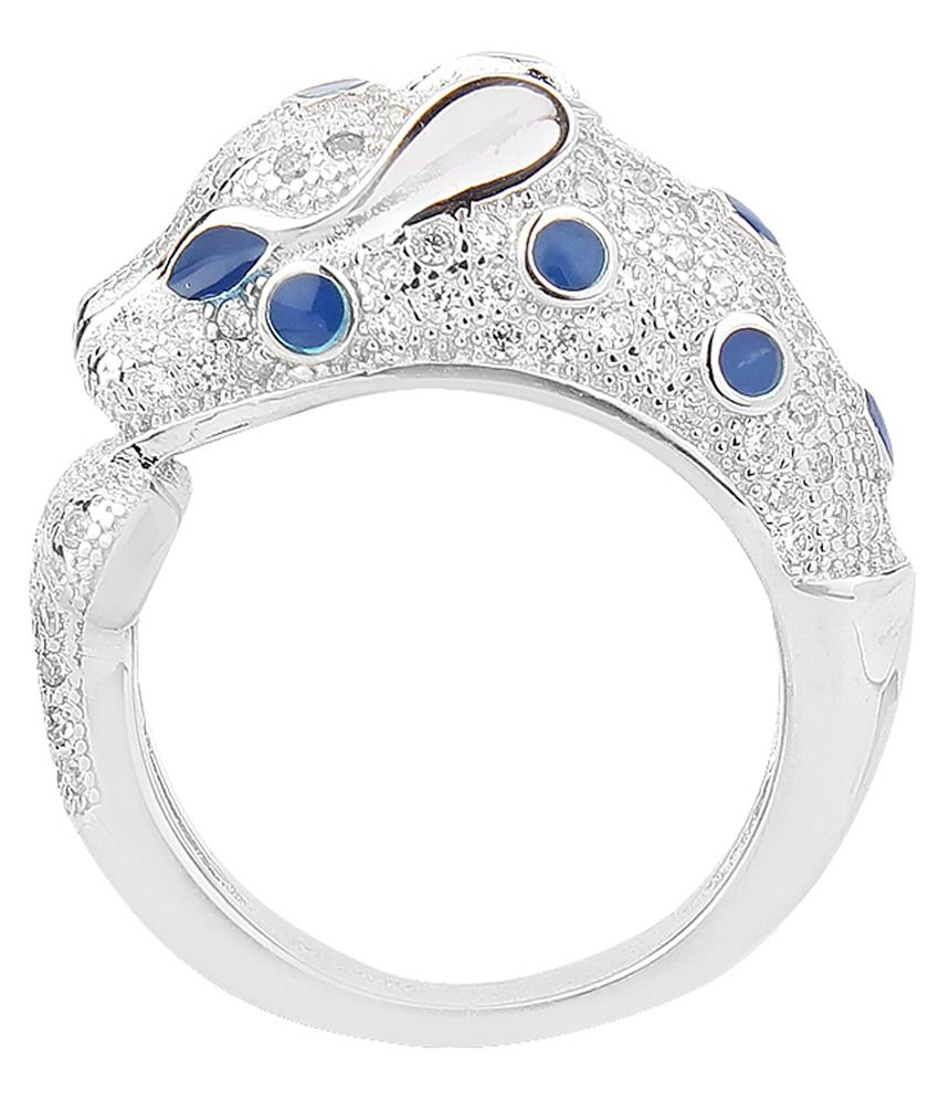 Jewel99 92.5 Silver Swarovski Ring