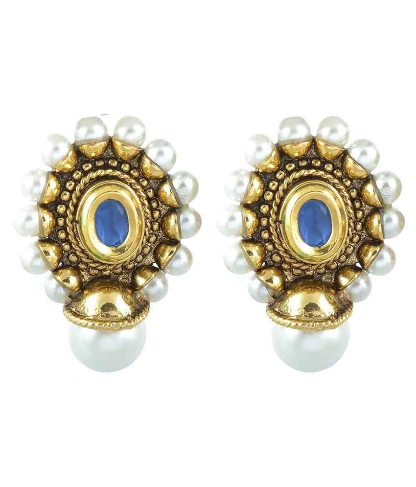 The Jewelbox Multicolor Brass Drop Earring
