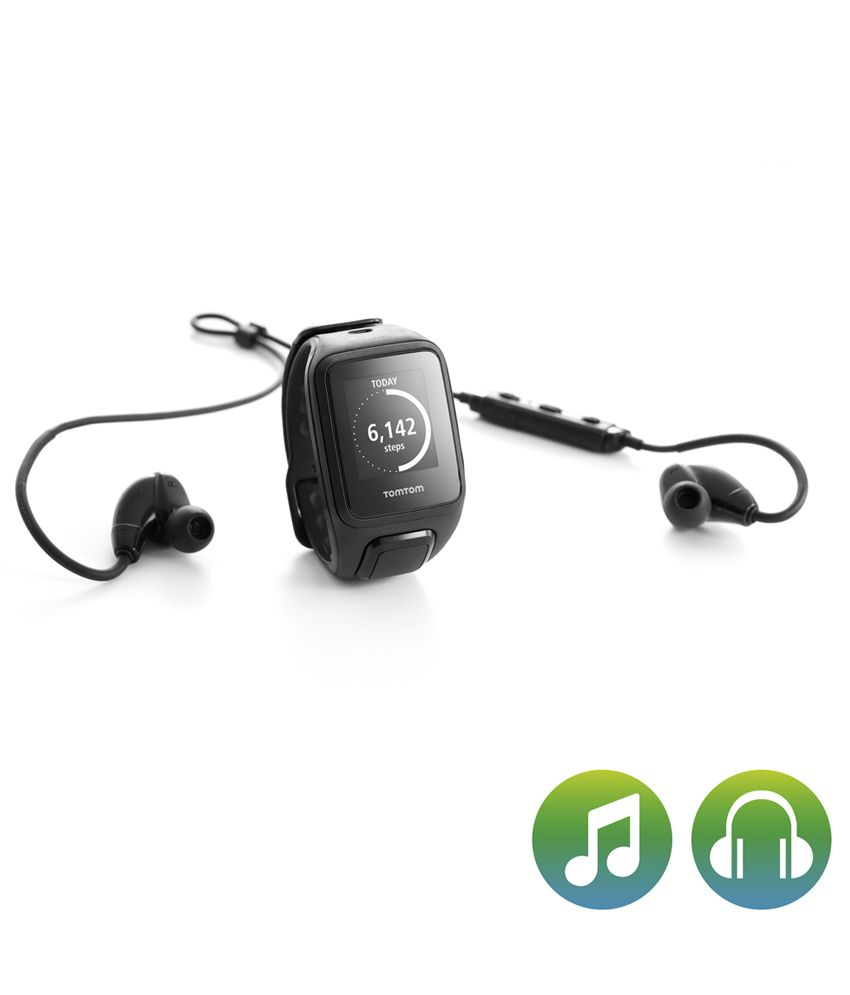 tomtom spark music gps fitness watch with headphones bundle black buy online at best price on. Black Bedroom Furniture Sets. Home Design Ideas