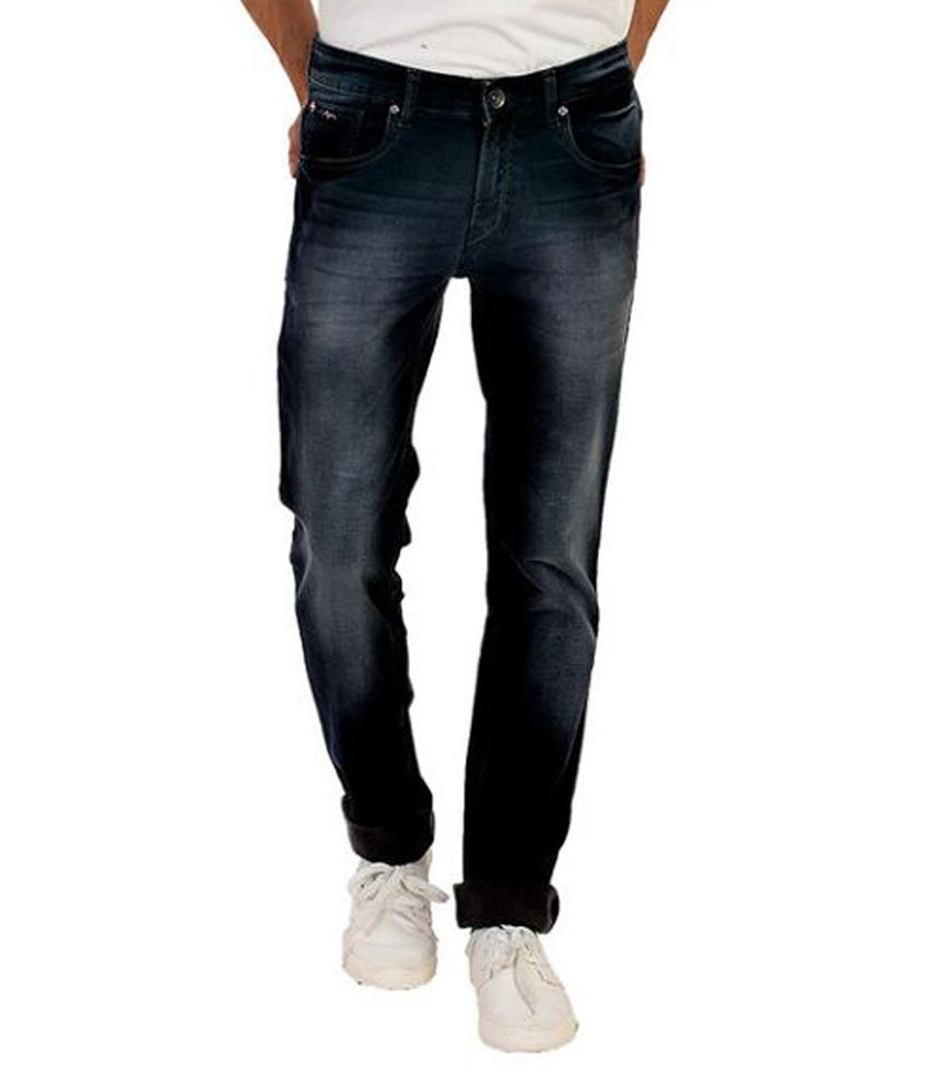 Wert Jeans Blue Regular Fit Faded Jeans