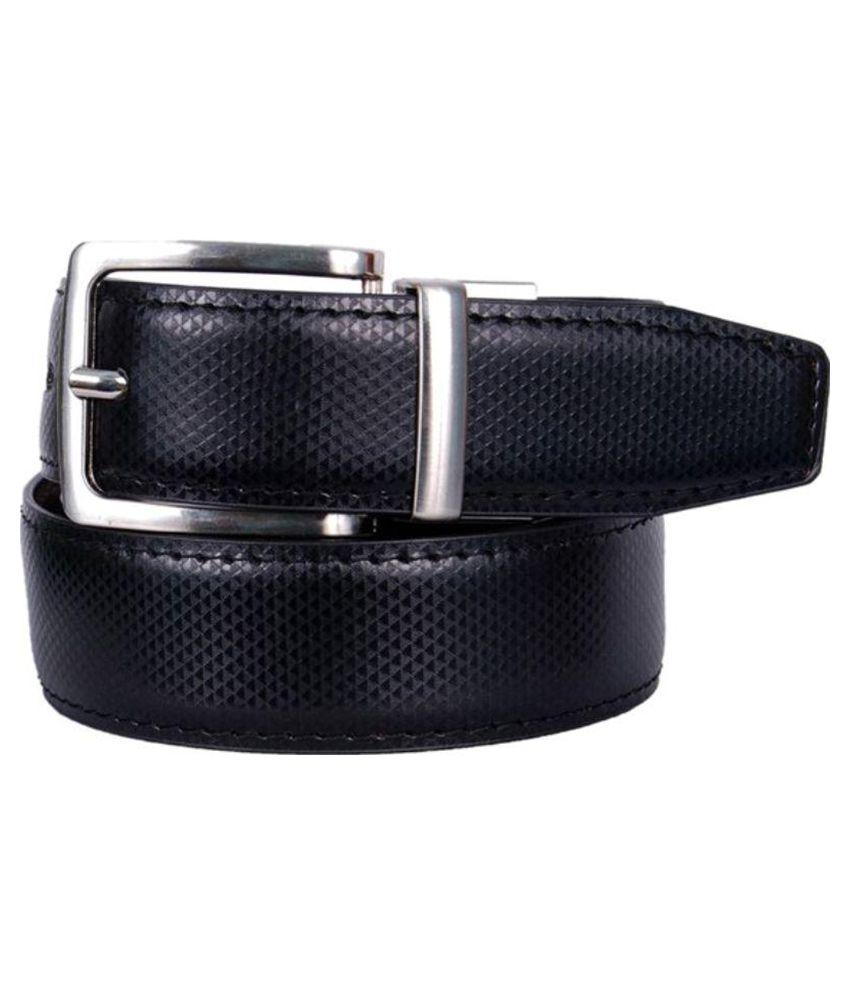 Calibro Black Reversible Casual Belt for Men