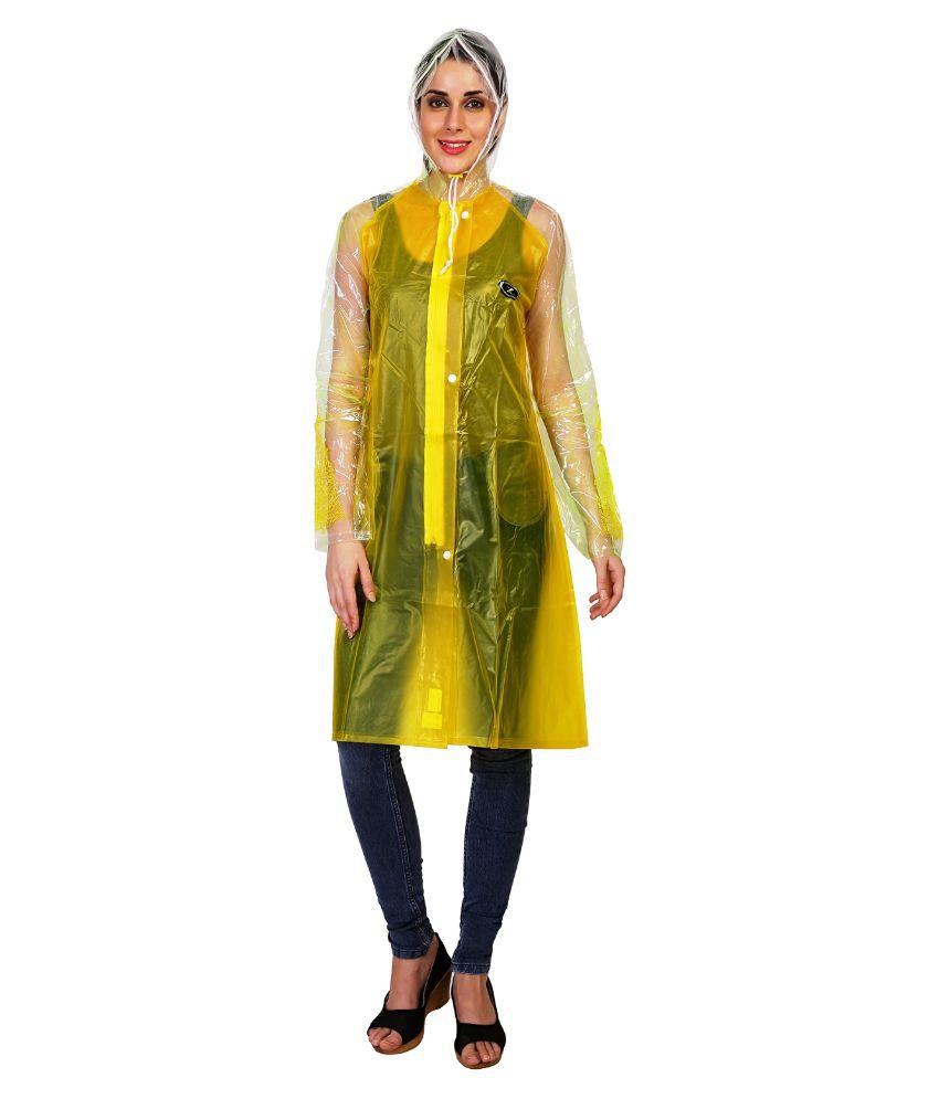 Zeel Yellow Long Raincoat