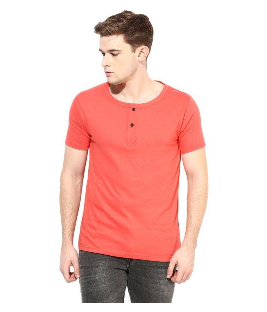 Benoit Peach Henley T Shirt