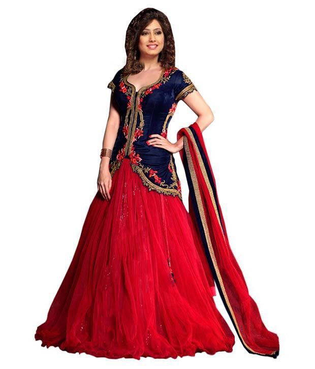 6cb1301fbe Greenvilla designs velvet lehengas Lehengas Prices in India - Shop ...