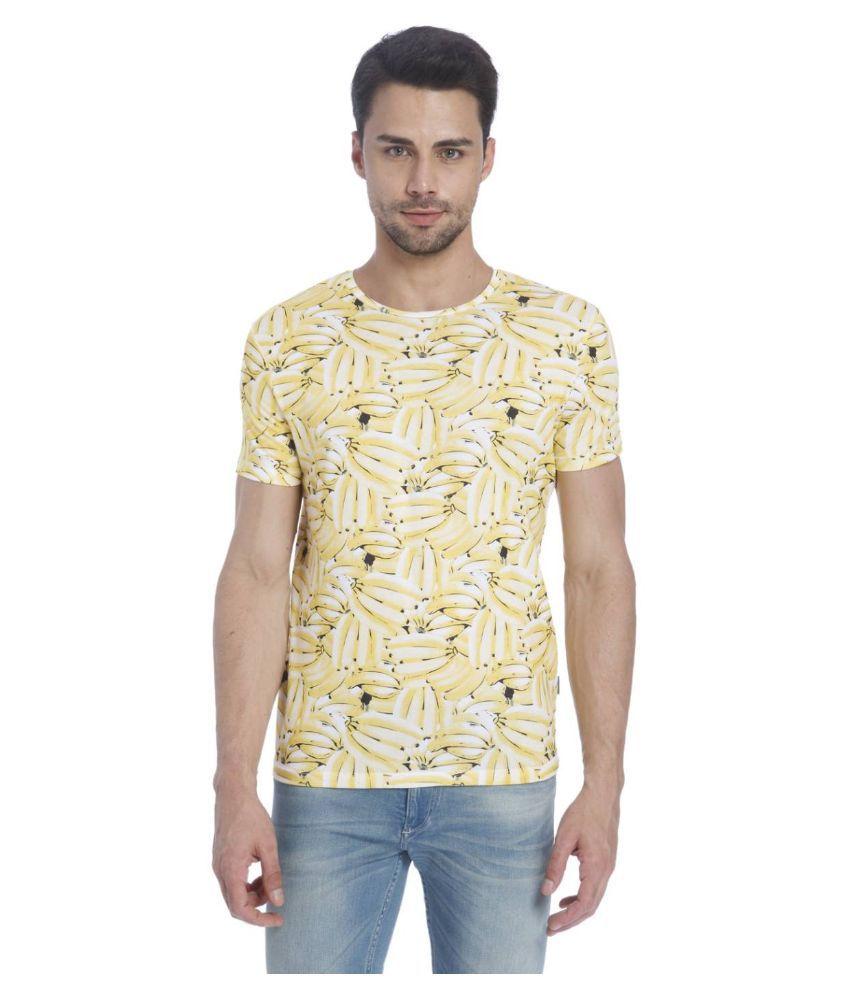 Jack & Jones Yellow Round T Shirt