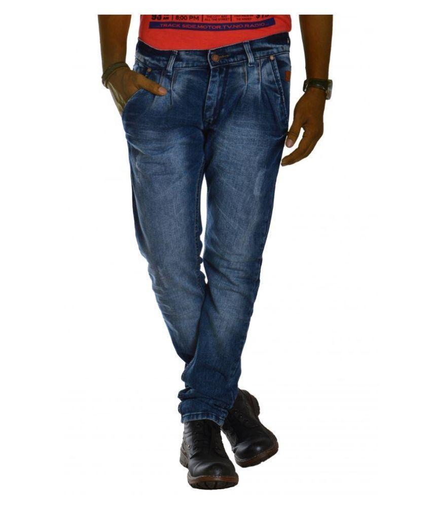Jugend Blue Regular Fit Faded Jeans