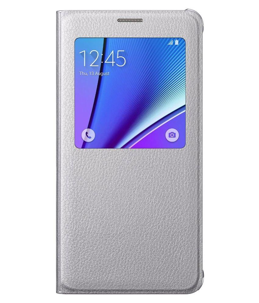check out 87f42 054fb Samsung Galaxy Note 5 Flip Cover by Samsung - Silver