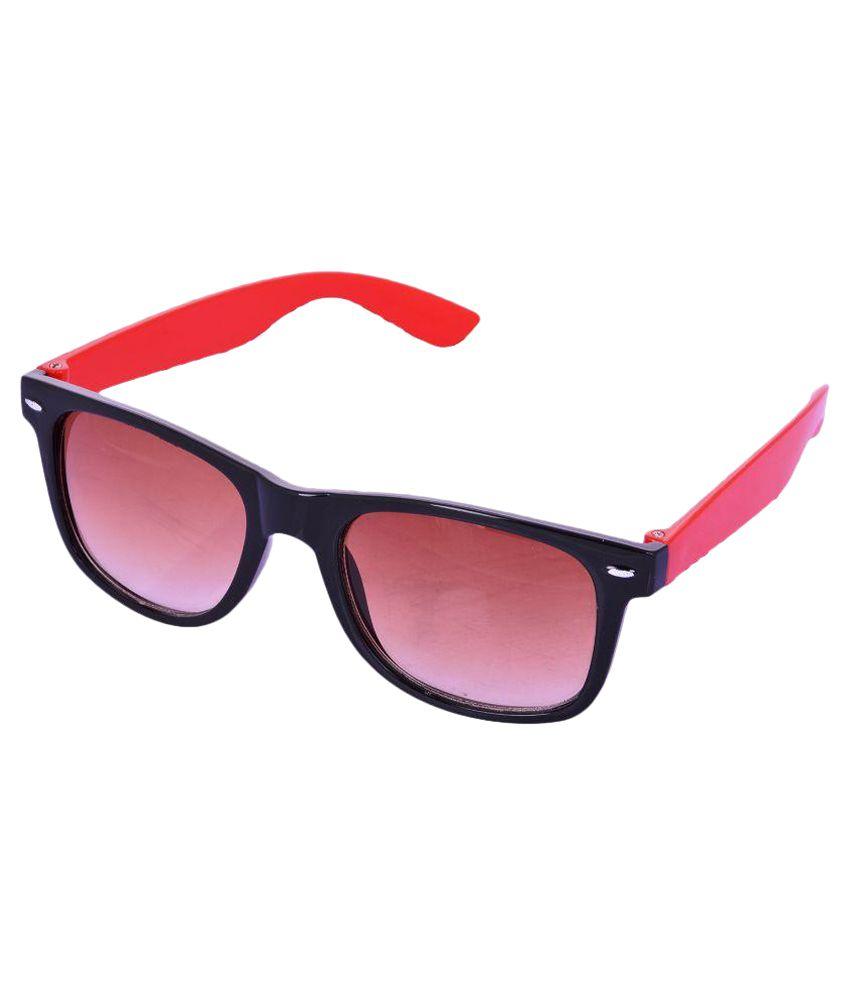Devme Red Wayfarer Sunglasses ( SG011 )