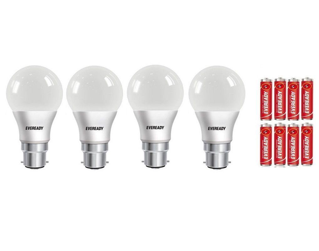 Eveready 7w White Led Bulbs- Pack Of 4