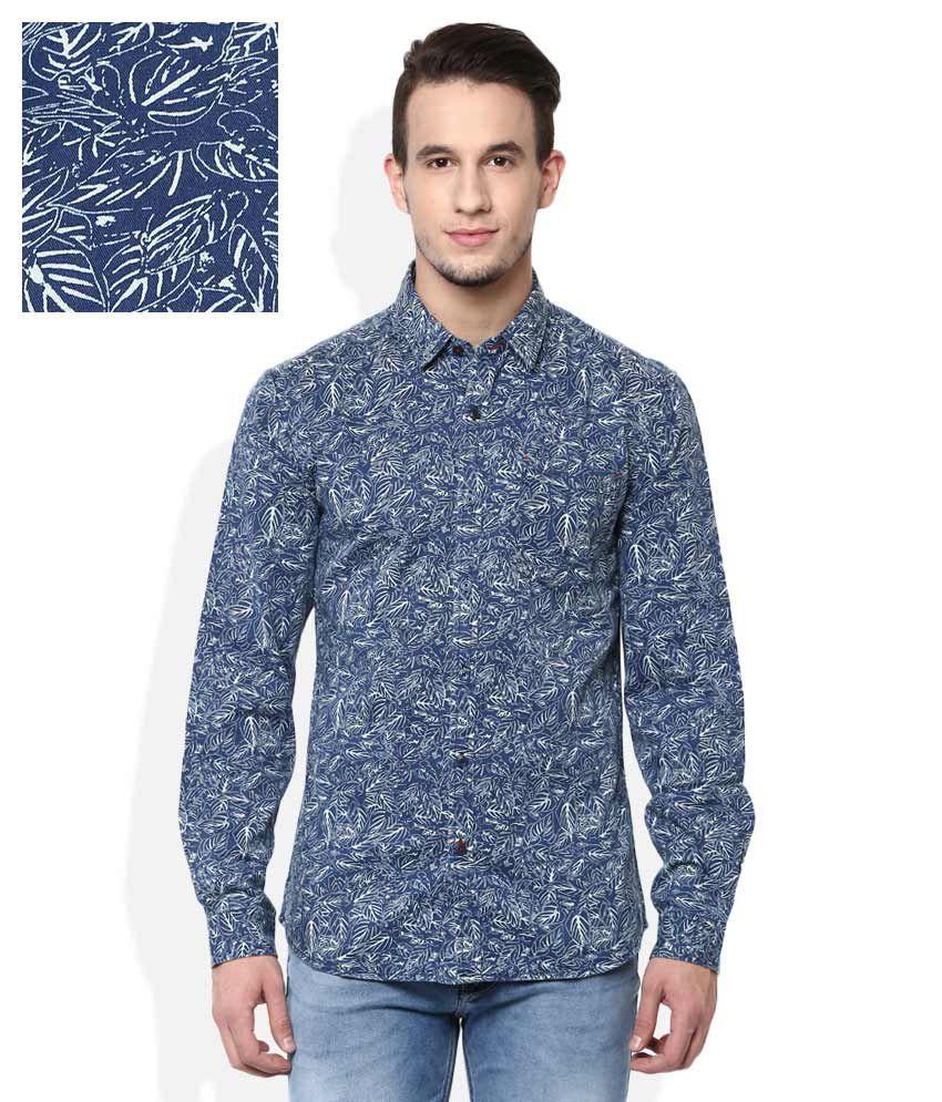 Wrangler Navy Slim Fit Shirt