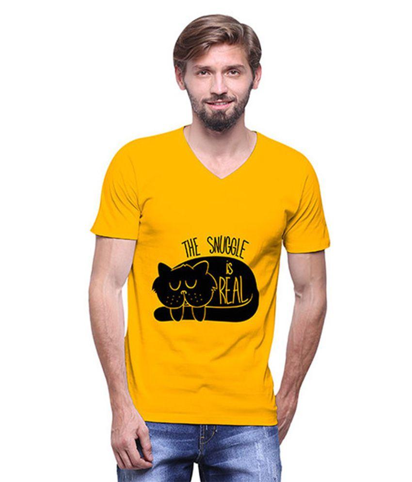 Uptown 18 Yellow V-Neck T Shirt