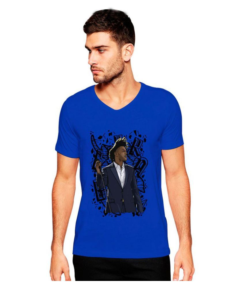 Uptown 18 Blue V-Neck T Shirt