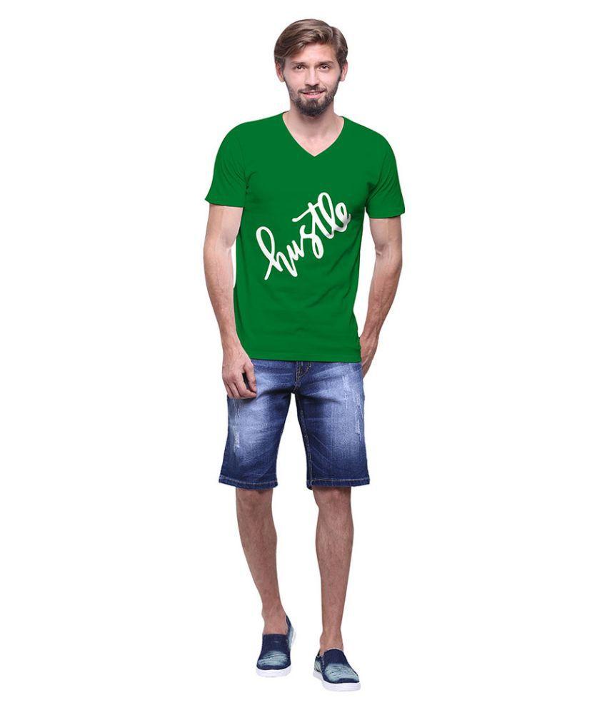 Uptown 18 Green V-Neck T Shirt