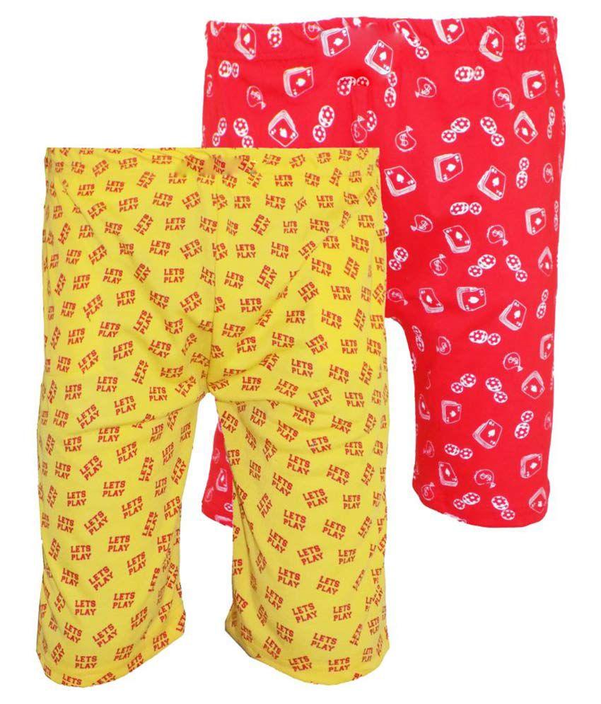 Fashionable Multicolor Cotton Shorts