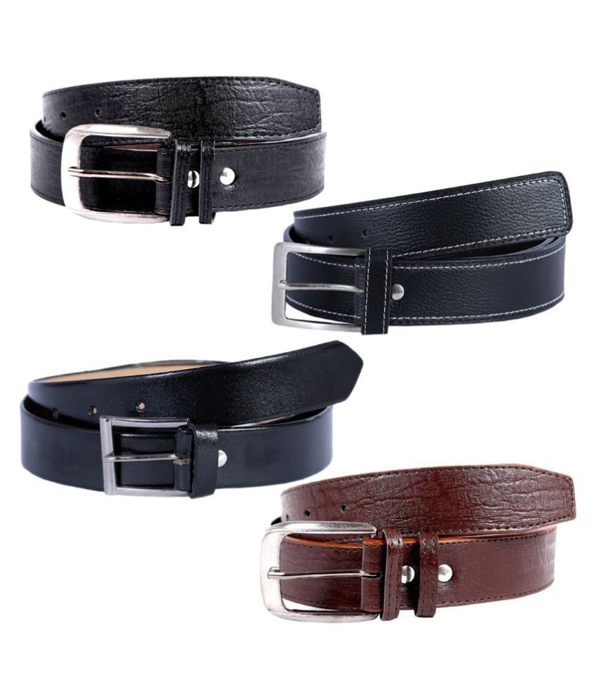 Hardy's Collection Multicolour Casual Belt for Men - Pack of 4