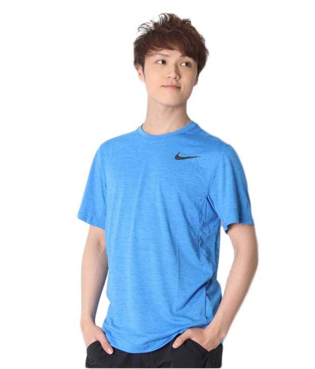 Nike Blue Dri-Fit Training Shirt for Men