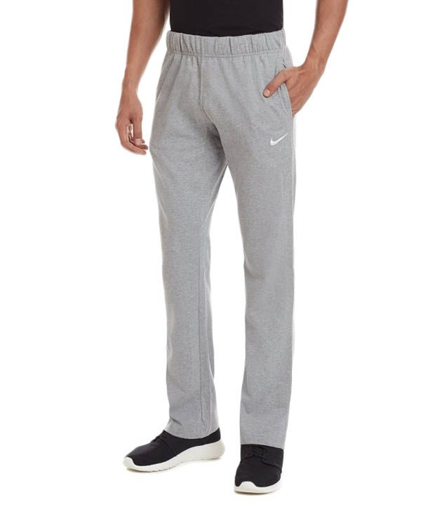 Nike Grey Cotton Track Pants for Men