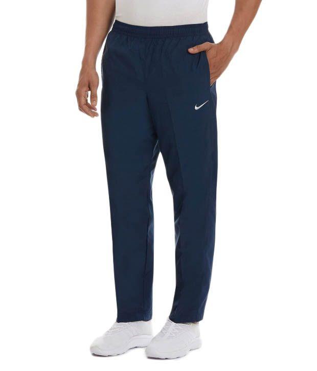 Nike Navy Poleyster Track Pants for Men