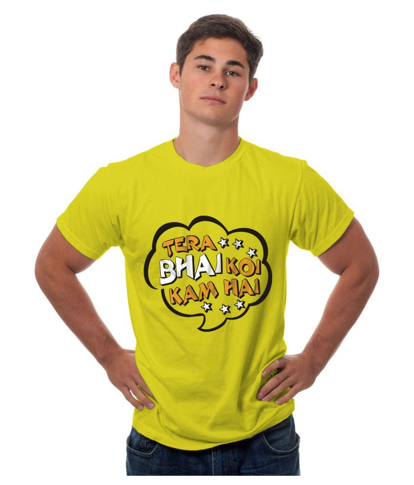 Sowing Happiness Yellow Round T Shirt