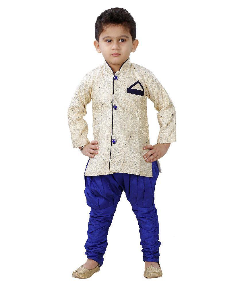 JBN Creation Beige Cotton Blend Sherwani