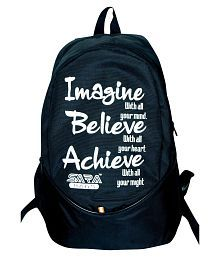 Sara Black Polyester School Bag