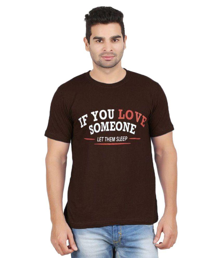 Gallop Brown Round T Shirt