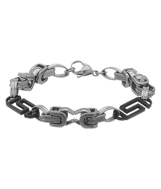 Voylla Silver Stainless Steel Bracelet