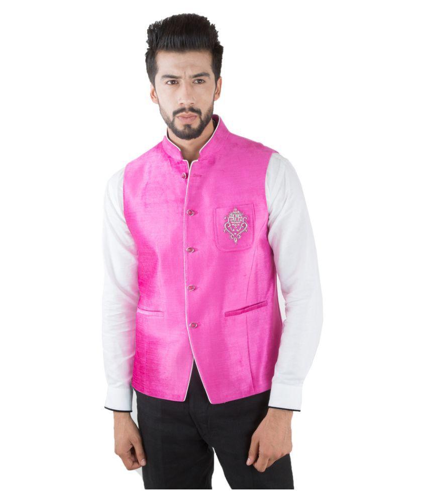 Jahanpanah Pink Festive Waistcoats